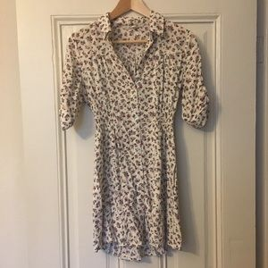 Collared Shirt Dress or Tunic with Buttons
